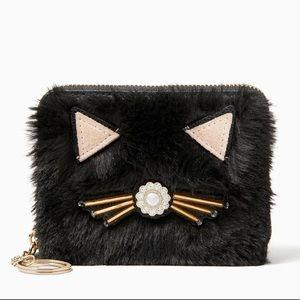 Kate Spade ♠️ fur kitty wallet nwt